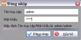 hướng   dẫn đăng nhập vào hệ thống