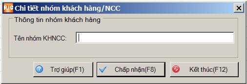 sửa nhóm khách hàng/ncc