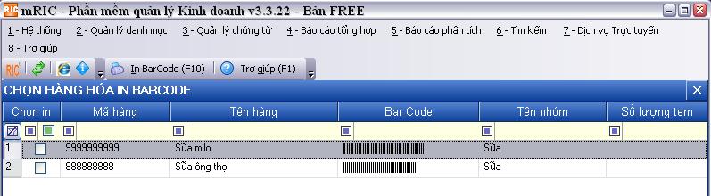 hướng dẫn sử dụng chức năng in barcode