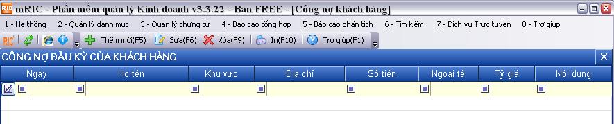 no dau ky cua khach hang